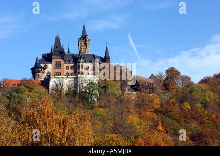 Deutschland Germany Sachsen Anhalt Saxony Anhalt Wernigerode Harz Schloß Schloss Europa europe Deutschland Germany - Stock Photo