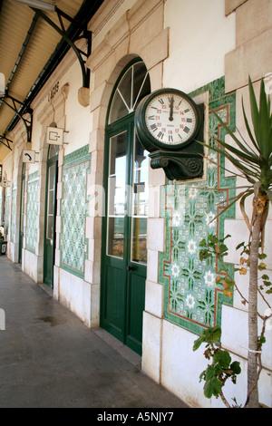 Old Railway Station at Lagos Algarve Portugal - Stock Photo