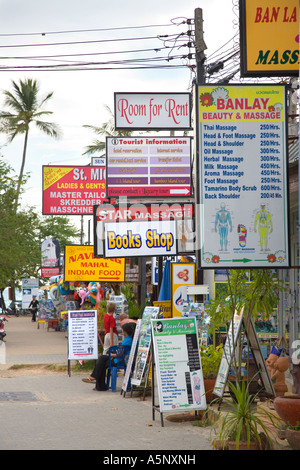 foreign tourist shop advertising signs and services in ao nang krabi stock photo 11358174 alamy. Black Bedroom Furniture Sets. Home Design Ideas