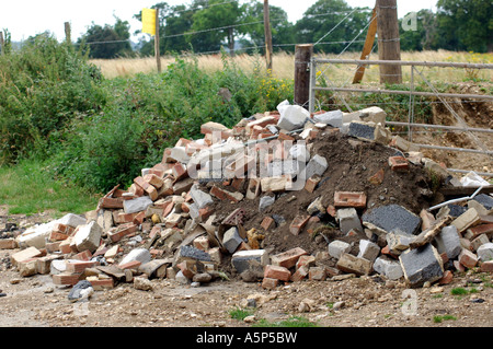 Illegal flytipping of waste London UK - Stock Photo