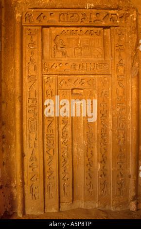 Tomb Of Khenu, False Door Stela, Saqqara, Egypt   Stock Photo