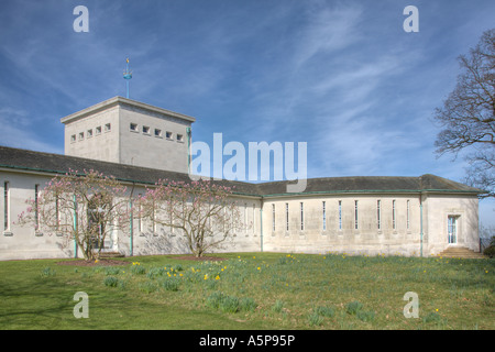 Commonwealth Air Forces Memorial Runnymede Surrey England - East Lookout & Shrine - Stock Photo