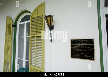 Ernest Hemingway Residence Key West Florida - Stock Photo