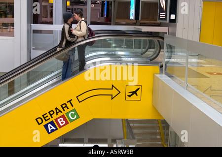International airport Geneva Switzerland - Stock Photo