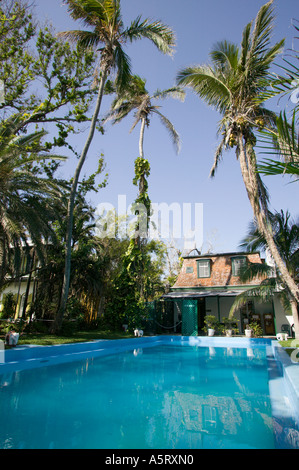 Pool at Ernest Hemingway Residence Key West Florida - Stock Photo