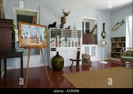 Writers Studio at Ernest Hemingway Residence Key West Florida - Stock Photo
