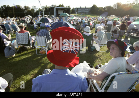 The annual Proms Spectacular at Ragley HAll Alcester Warwickshire England UK - Stock Photo