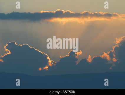 Cloudscape at sunset - Stock Photo