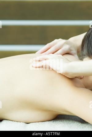 Woman having massage - Stock Photo