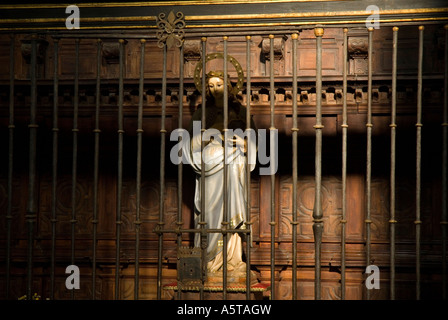 Virgin Mary statue at the Cathedral BAEZA Jaen province Andalusia region Spain - Stock Photo