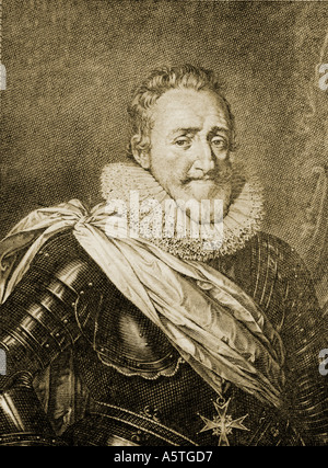 Henry IV of France, aka Good King Henry or Henry the Great, 1553 – 1610.  King of Navarre (as Henry III) from 1572, - Stock Photo