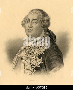 Louis XVI, 1754 - 1793. King of France, 1774 - 1792. - Stock Photo