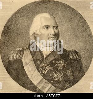 Louis XVIII,  Louis Stanislas Xavier, 1755 -1824. King of France, 1814 -1824. - Stock Photo