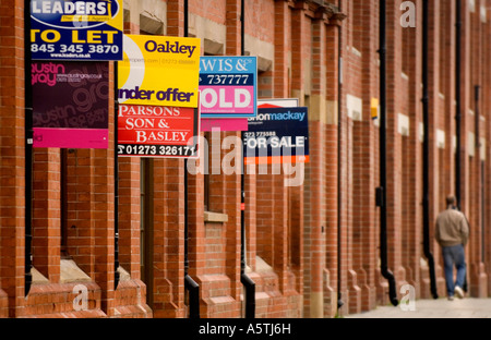 Property for sale in the city of Brighton. Picture by Jim Holden. - Stock Photo