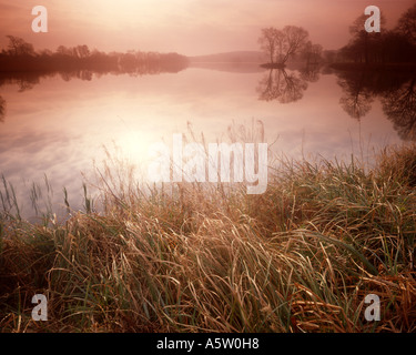 GB - NORTH YORKSHIRE:  Autumn Morning at the Lake at Castle Howard - Stock Photo
