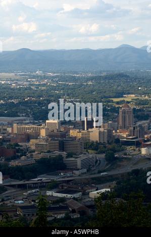 Landscape overlooking the City of Roanoke, Virginia - Stock Photo