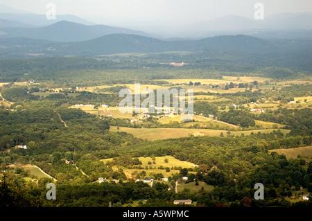 Landscape of the Suburban area of Roanoke, Virginia - Stock Photo