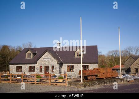 Inigo Jones Slate Works main building from outside Y Groeslon Caernarvon Gwynedd North Wales UK - Stock Photo