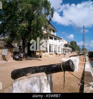 Seafront in Lamu Town, Lamu Island, North Coast, Kenya, East Africa - Stock Photo