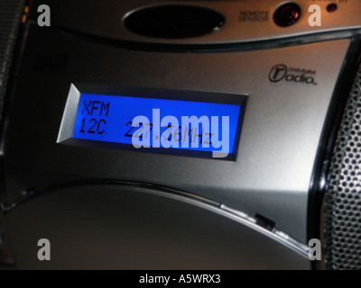 Digital Audio Broadcasting DAB radio display - Stock Photo