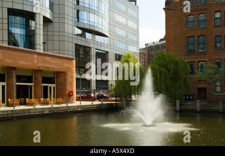 Former Manchester and Salford Junction Canal, in front of the Bridgewater Hall, Barbirolli Square, Manchester, UK - Stock Photo