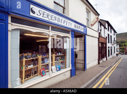 Serendipity Books shop in Blaenavon Book Town South Wales UK - Stock Photo