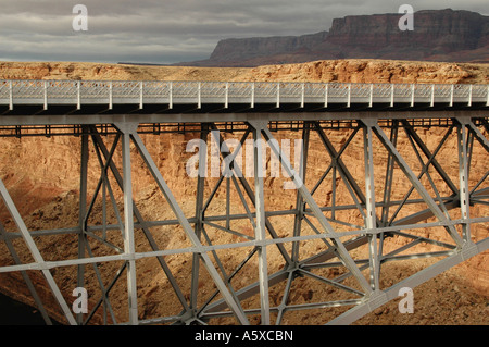 Painet je6517 arizona coconino vermillion cliffs recreation area marble canyon colorado river historic navajo bridge - Stock Photo