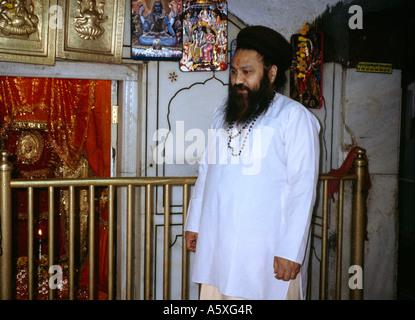 Amritsar India Langa Wali Devi  Priest (brahmin) At Shrine - Stock Photo