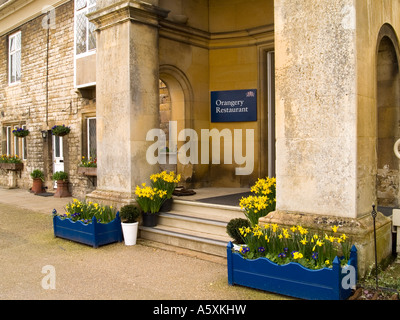 Entrance to the Orangery Restaurant at Bughley House, Stamford Lincolnshire UK - Stock Photo