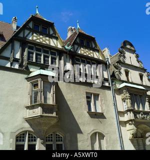 Alfred Marzolff house, school director housing, Lycée des Pontonniers, international high school, Strasbourg, Alsace, - Stock Photo