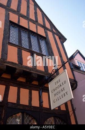 The Crooked House Lavenham Suffolk England - Stock Photo