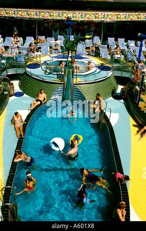 The Caribbean Cruise ship Carnival Spirit - Stock Photo