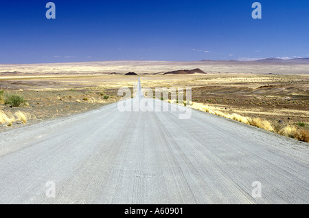 Gravel road in southern Namibia. - Stock Photo