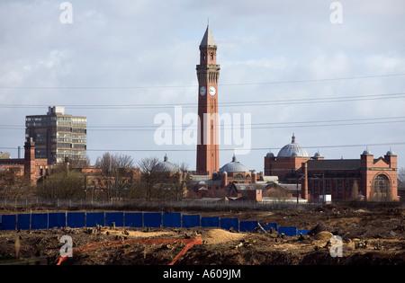 The famous Clock Tower land mark at University of Birmingham West Midlands England UK - Stock Photo