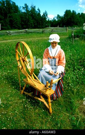 Canada New Brunswick Acadian Historical Village - Stock Photo