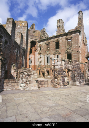 dh Caerverock Castle CAERLAVEROCK DUMFRIES Scottish Castles Triangle court yard buildings historic triangular courtyard stone Scotland