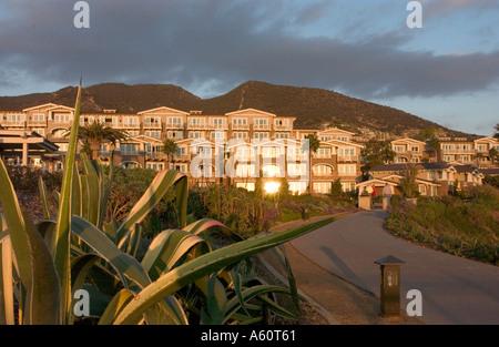 Sunset shot of the Montage Resort in Laguna Beach. - Stock Photo