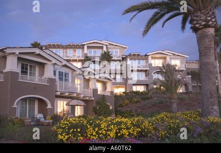 Evening view of the Montage Resort in Laguna Beach. - Stock Photo