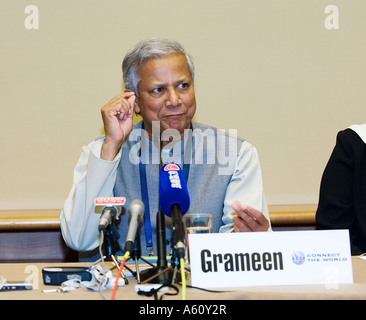 Professor Muhammad Yunus Nobel Prize Winner Laureate and Managing Director of Grameen Bank - Stock Photo
