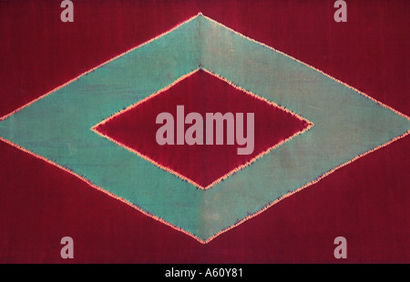 Ceremonial cloth and sacred heirloom Dodot Silk batik from Java or Sumatra Indonesia - Stock Photo