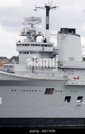 HMS Invincible, Royal Navy Aircraft Carrier - Stock Photo