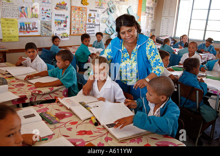 Painet jj1779 namibia rehobeth primary school class 2 africa subsahara poverty country developing nation less economically - Stock Photo