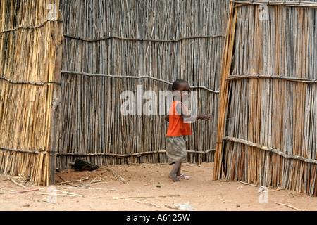 Painet jj1793 namibia child kid nyangana small village mission station north country angolan border 2 africa subsahara - Stock Photo