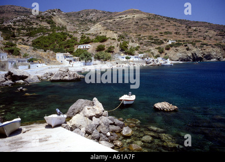 Harbour View Greek Dodecanes Island  Karpathos Greece - Stock Photo