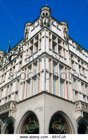 Low angle view of building, Glockengasse Synagogue, Cologne, North Rhine-Westphalia, Germany - Stock Photo