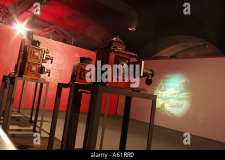 Magic Lanterns Archaeology of Cinema Museo Nazionale del Cinema Turin Piedmont Italy - Stock Photo