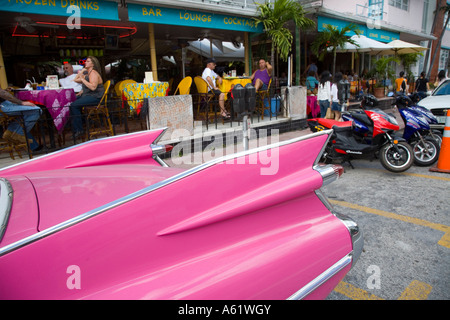 Pink Cadillac In The Art Deco District Of South Beach Miami Stock - Cadillac dealer miami