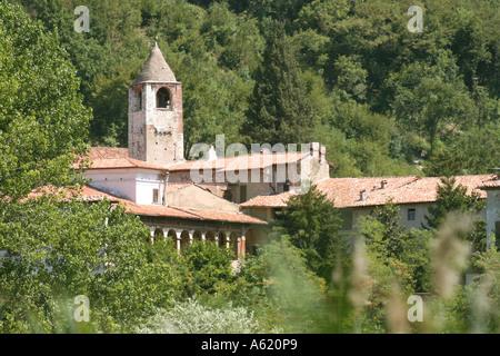 San Pietro in Lamosa monastery Provaglio d Iseo Franciacorta Lombardy Italy - Stock Photo