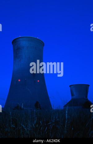 Hamm-Uentrop, Kraftwerk Westfalen, erbaut 1962/63, Eigner RWE Power AG, Kohlekraftwerk am Datteln-Hamm-Kanal