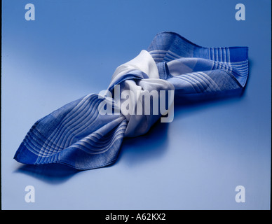 Close-up of knot in handkerchief - Stock Photo